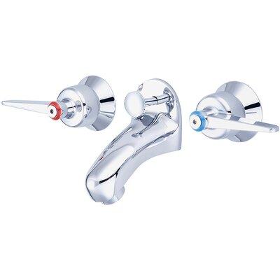 Slant Back Wall Mounted Double Handle Bathroom Faucet