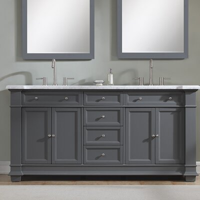 Riccardo 72 Double Bathroom Vanity Set Base Finish: Gray