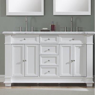 Riccardo 60 Double Bathroom Vanity Set Base Finish: White