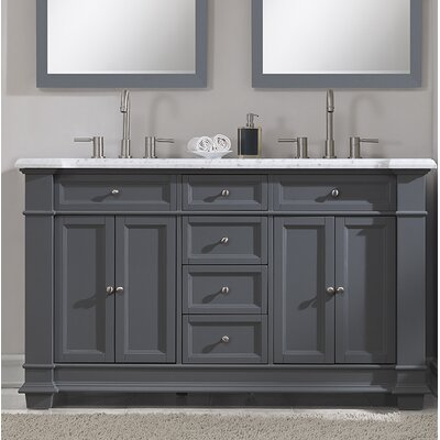 Riccardo 60 Double Bathroom Vanity Set Base Finish: Gray