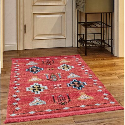 Rubie Red Area Rug Rug Size: Rectangle 78 x 102