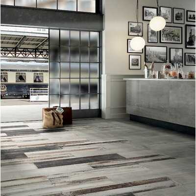 Blocks 12 x 24 Porcelain Field Tile in Wood