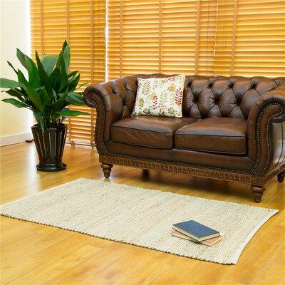 One-of-a-Kind Erdman Hand Woven Wool/Cotton Beige/Brown Area Rug