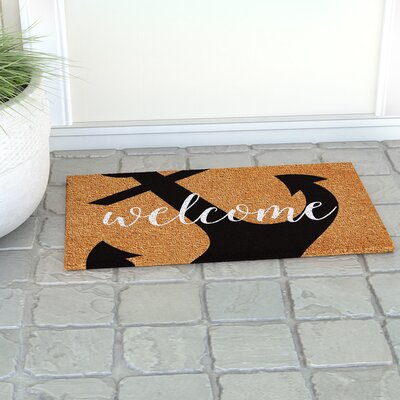 Ailsa Anchor Welcome Doormat Rug Size: 14 x 24