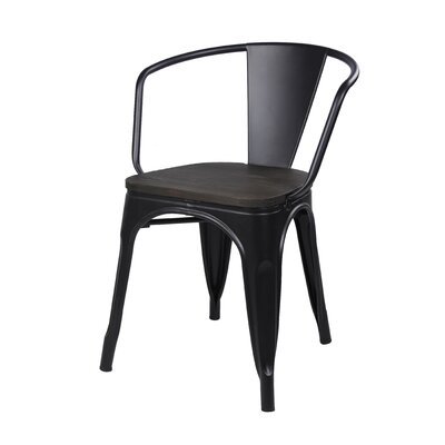 Anni Metal Dining Chair Color: Black