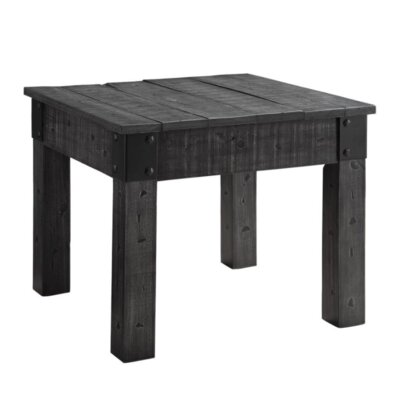 Choncey End Table Color: Black