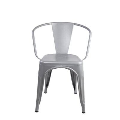 Anni Metal Dining Chair Color: Gray