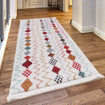 Rubie White Area Rug Rug Size: Rectangle 67 x 96