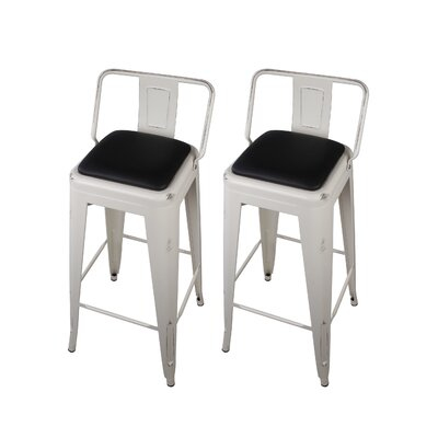 Alric 30 Bar Stool Color: White
