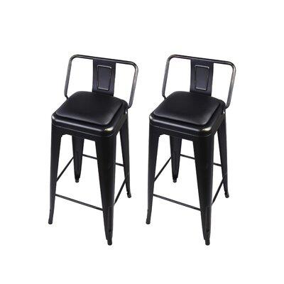 Alric 30 Bar Stool Color: Black