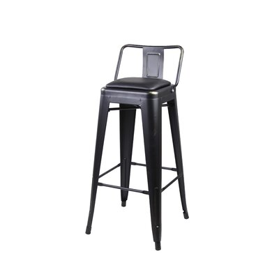Alric 30 Bar Stool Color: Black