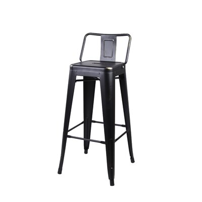 Capucine 30 Bar Stool Color: Black