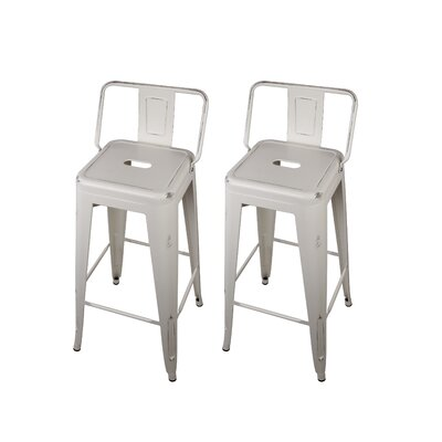 Capucine 30 Bar Stool Color: White