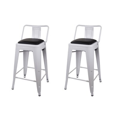 Alric 24 Bar Stool Color: White