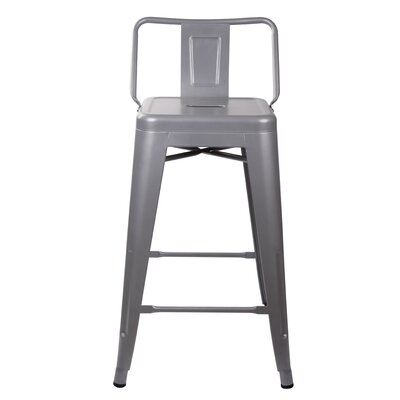 Capucine 24 Bar Stool Color: Gray