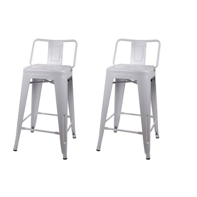 Capucine 24 Bar Stool Color: White