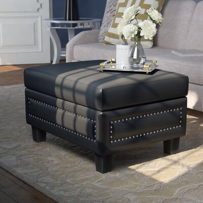 Dia Storage Ottoman Upholstery Color: Black