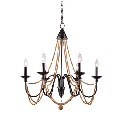 Clayburn 6-Light Candle-Style Chandelier Finish: Oil Rubbed Bronze