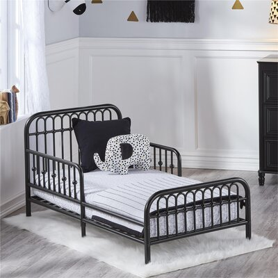 Piper Toddler Bed Bed Frame Color: Black