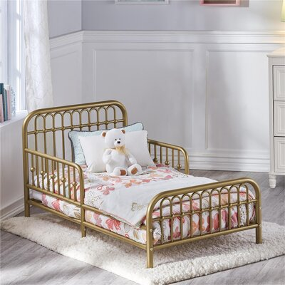 Piper Toddler Bed Bed Frame Color: Gold