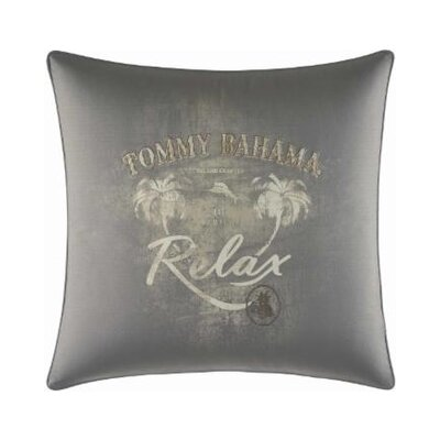 Raffia Palms Relax Print 100% Cotton Throw Pillow by Tommy Bahama Bedding
