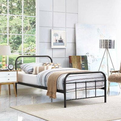 Hartsock Bed Frame Color: Brown, Size: Twin