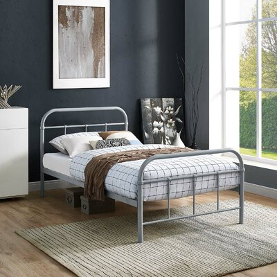 Hartsock Bed Frame Color: Gray, Size: Full