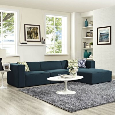 Crick Sectional Upholstery: Blue