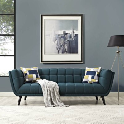 Chaumont Upholstered Chesterfield Sofa Upholstery: Blue