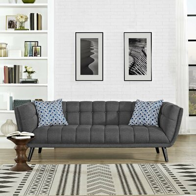 Chaumont Upholstered Chesterfield Sofa Upholstery: Gray