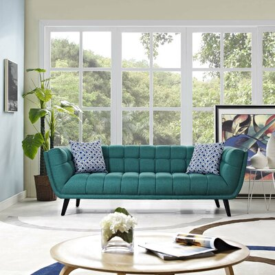 Chaumont Upholstered Chesterfield Sofa Upholstery: Teal