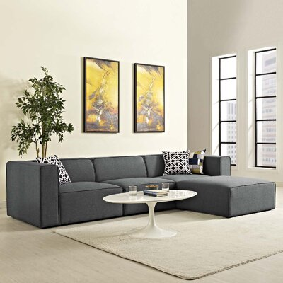 Crick Sectional Upholstery: Gray