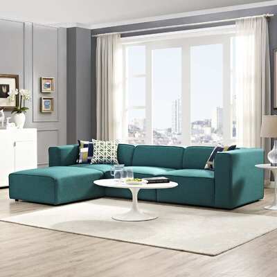 Crick Sectional Upholstery: Teal