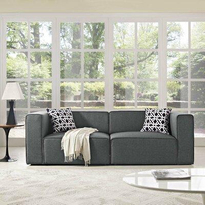 Crick Modular Loveseat Upholstery: Gray