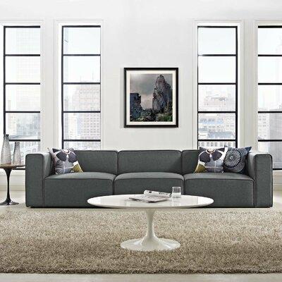 Crick Modular Sofa Upholstery: Gray