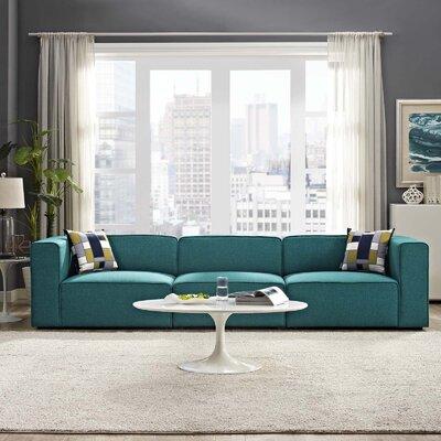 Crick Modular Sofa Upholstery: Teal