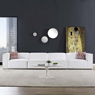 Crick Modular Sofa Upholstery: White