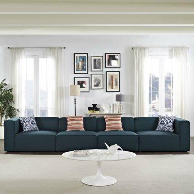 Crick Modular Sofa Upholstery: Blue