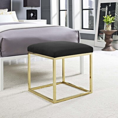 Kelch Ottoman Upholstery: Gold/Black