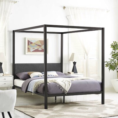 Ferro Canopy Bed Frame Color: Brown/Gray