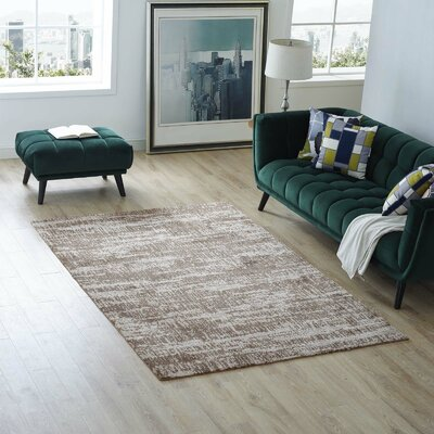 Bonney Light/Dark Tan Area Rug Rug Size: Rectangle 5x 8