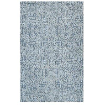 Burlison Ivory/Light Blue Area Rug Rug Size: Rectangle 5x 8