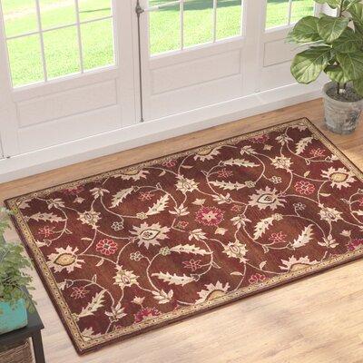 Mcandrews Vintage Hand-Tufted Wool Brown Area Rug Rug Size: Rectangle 5 x 8