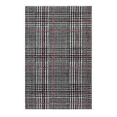 Wiedman Black/Red Area Rug Rug Size: Rectangle 8 x 10