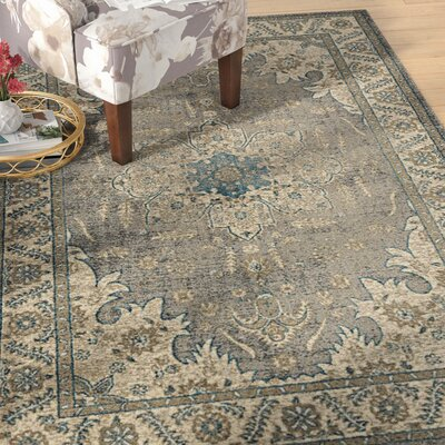 Basswood Gray Area Rug Rug Size: Rectangle 9 x 12