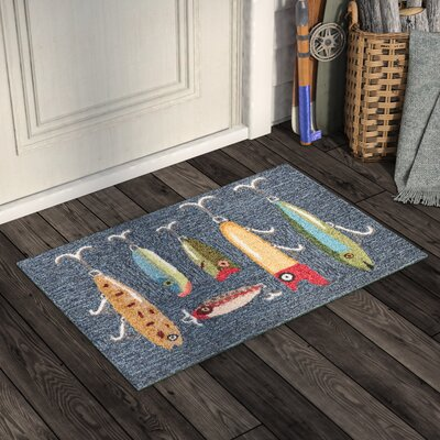 Buckeys Playing Hooky Hand-Tufted Gray Indoor/Outdoor Area Rug Rug Size: 2 x 3