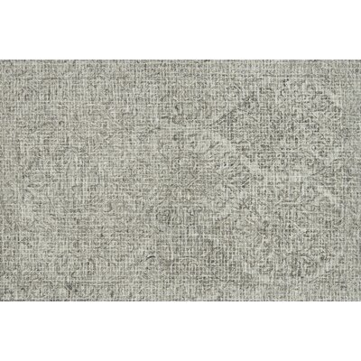 Zeinab Hand Hooked Wool Pewter/Stone Area Rug Rug Size: Rectangle 36 x 56