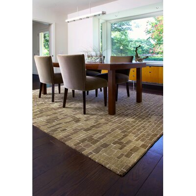 Burcet Hand-Knotted Latte Area Rug Rug Size: Rectangle 56 x 86