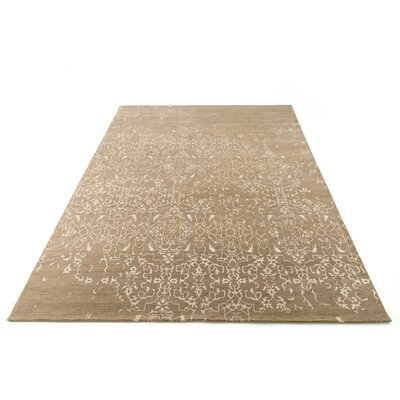 Vanita Hand-Knotted Taupe Area Rug Rug Size: Rectangle 56 x 86