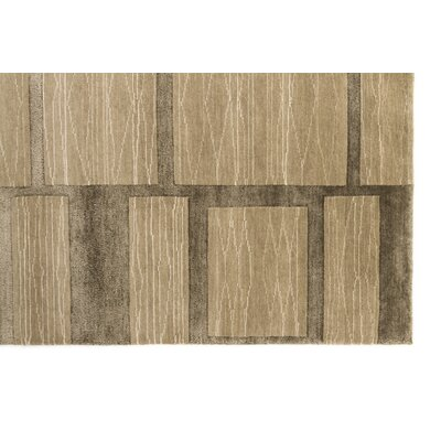 Burcet Hand-Knotted Ash Area Rug Rug Size: Rectangle 56 x 86